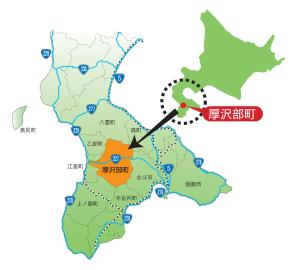 厚沢部町地図